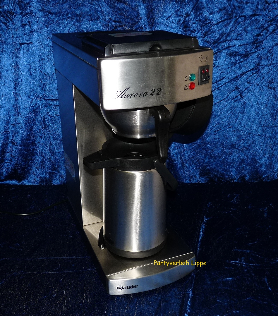 partyverleih kaffeemaschine mit pumpkanne. Black Bedroom Furniture Sets. Home Design Ideas